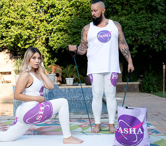 DJ Pasha workout large galaxay party tote